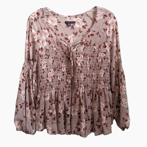 🌺4/$30 AMERICAN EAGLE | DUSTY ROSE FLORAL TOP